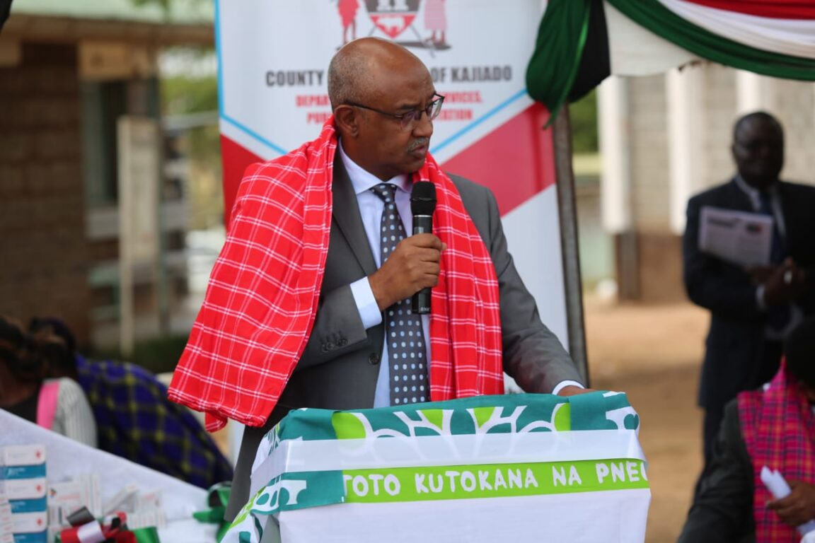 Health-CAS-Dr.-Rashid-Aman-gives-remarks-during-the-commemoration-of-the-World-Pneumonia-Day-in-Kajiado-County