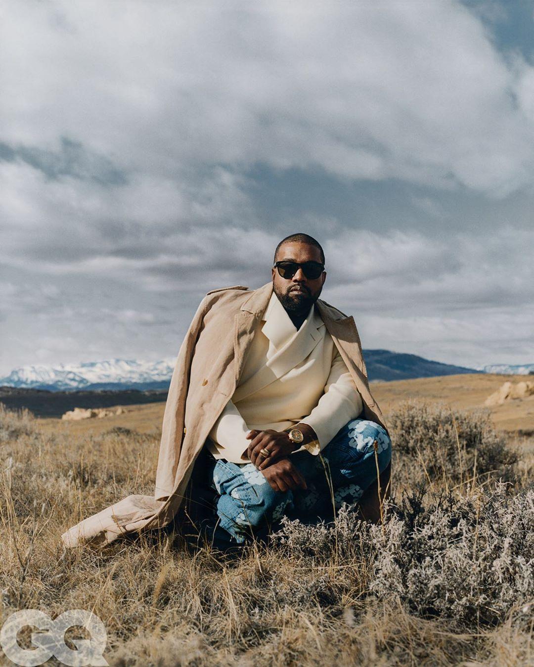 Kanye West posing