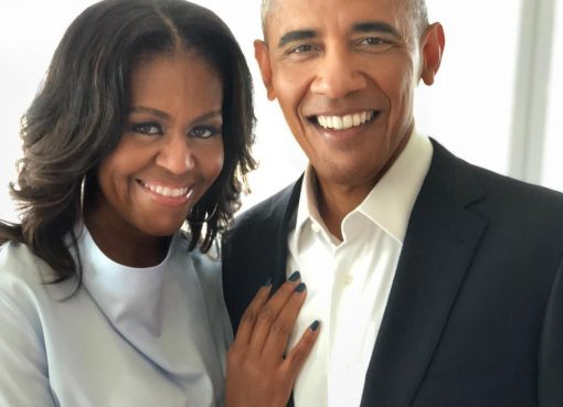 Michelle Obama with Barack Obama