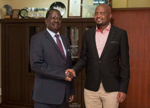 Moses Kuria meeting Raila Odinga