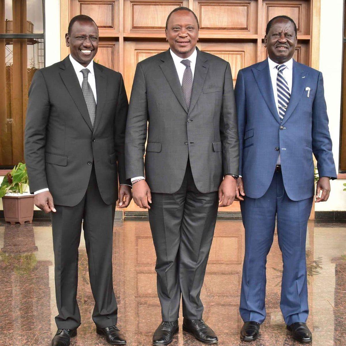 Uhuru Kenyatta, Raila Odinga and William Ruto