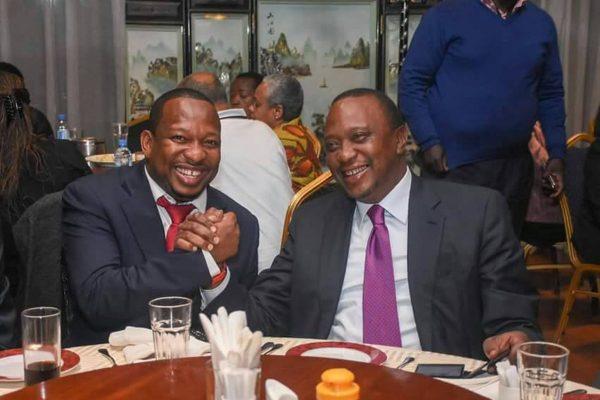 Uhuru Kenyatta with Mike Sonko