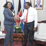 Aisha Jumwa meeting Uhuru Kenyatta in the past