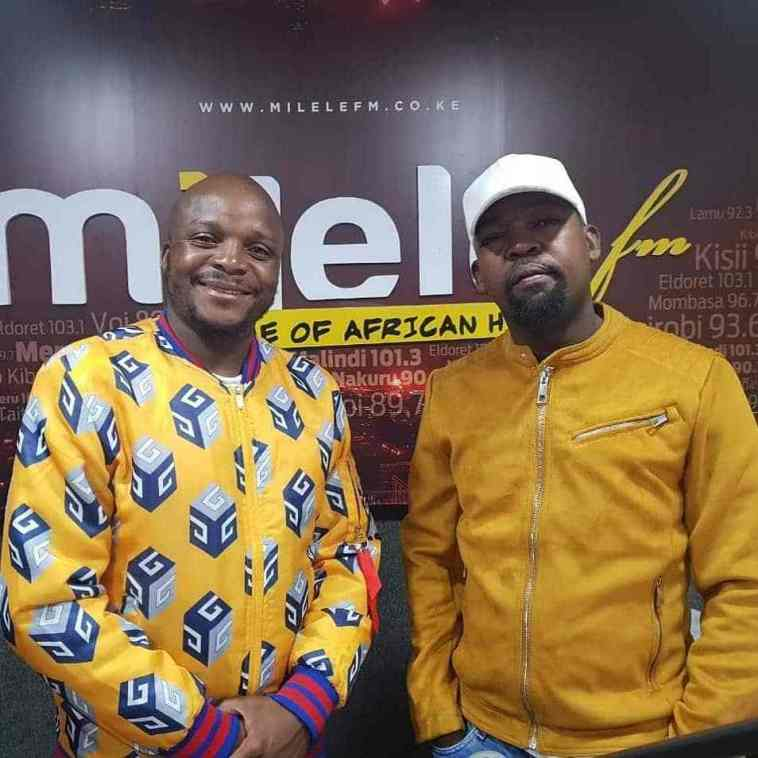 Milele FM presenters Jalang'o and Alex Mwakideu