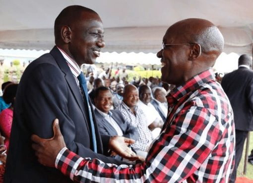 Boni Khalwale with William Ruto in the past