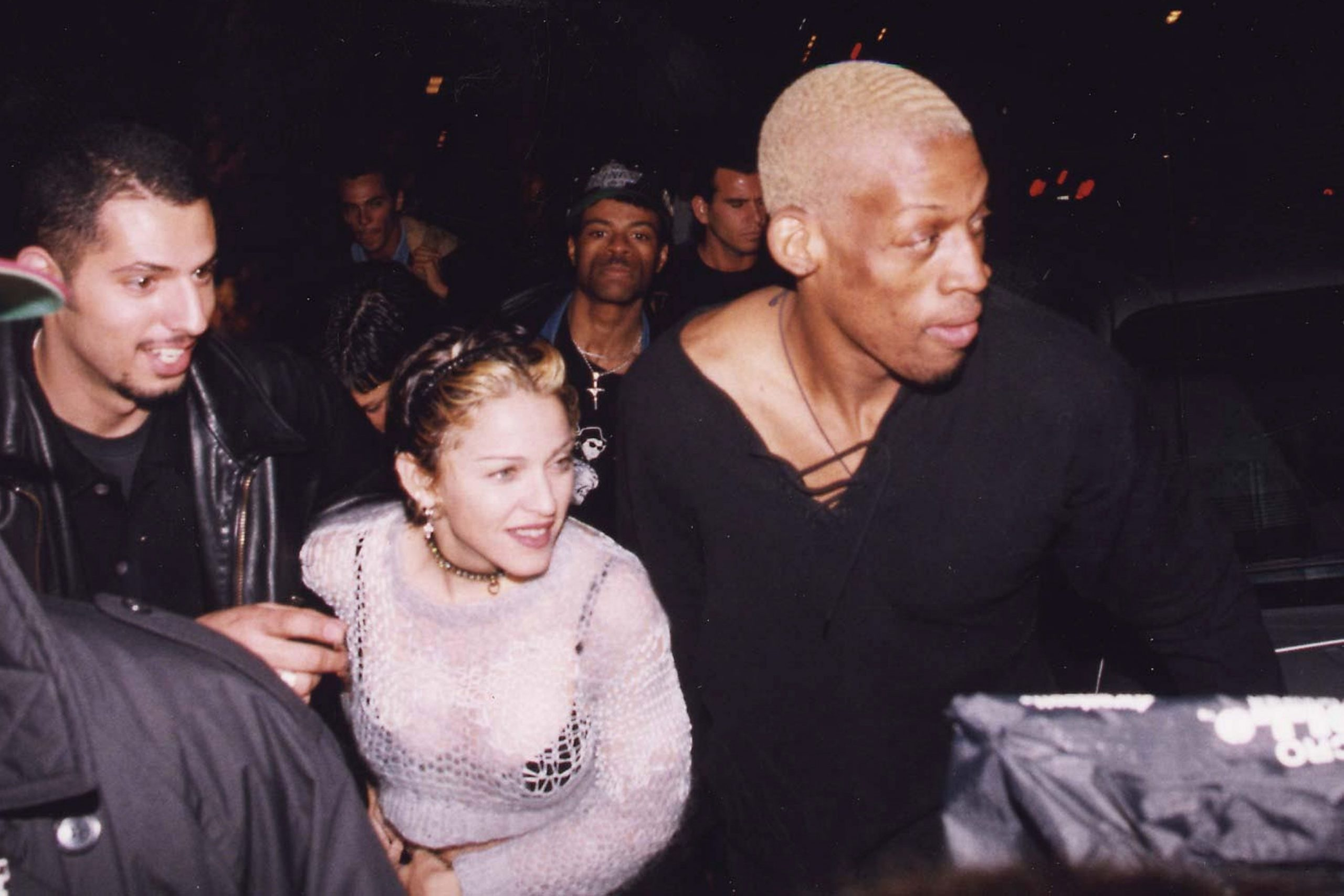 Dennis Rodman with Madonna in the past
