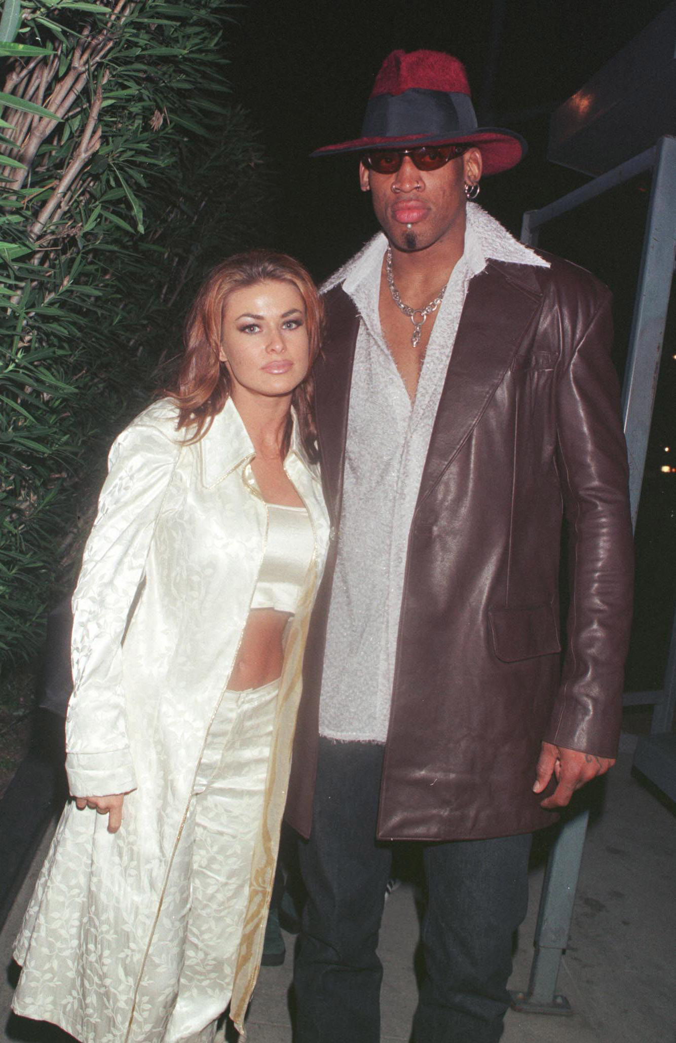 Dennis Rodman with Carmen Electra in the past
