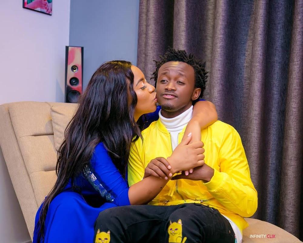 Diana Marua with Bahati