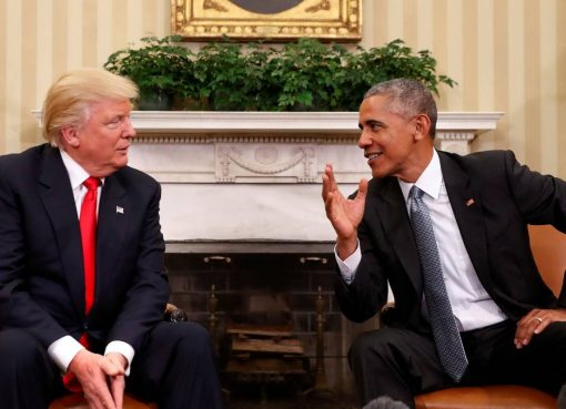 Donald Trump and Barack Obama in the White House