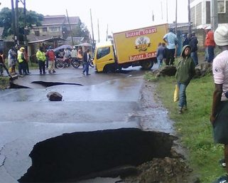 Mother nature destroys roads in Nakuru