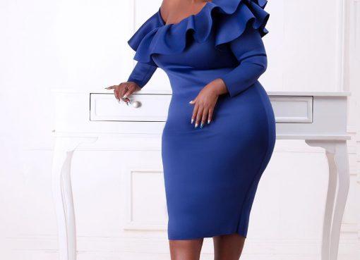 Kalekye Mumo in a dress
