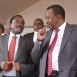 Kalonzo Musyoka with Uhuru Kenyatta