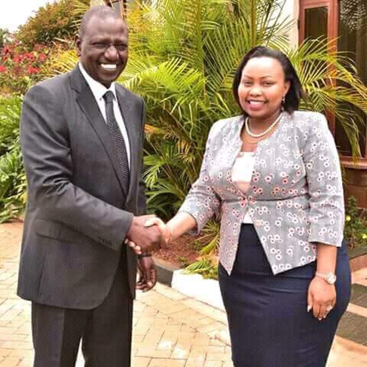 Millicent Omanga with William Ruto in the past