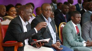 Mithika Linturi with William Ruto in the past