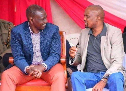 Moses Kuria and William Ruto together