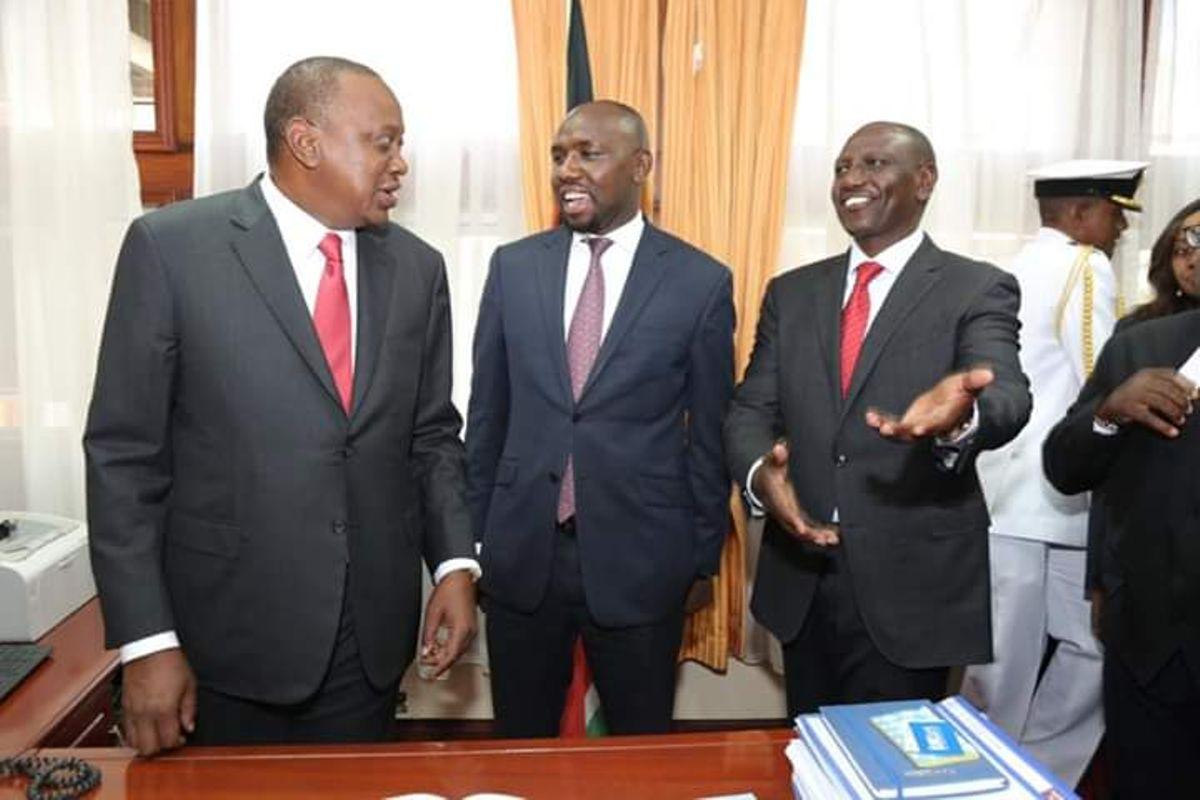 Murkomen with Ruto and Uhuru in the past