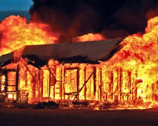 Man throws his mother inside burning house in Nyamira
