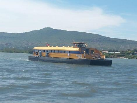 One of the ferries, popularly known as water buses plying the waters of Lake Victoria.