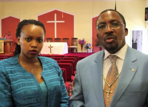 Pastor James Ng'ang'a with his wife in the past