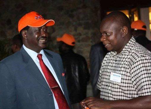Philip Etale with ODM leader Raila Odinga