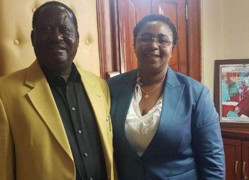 Raila Odinga with Aisha Jumwa