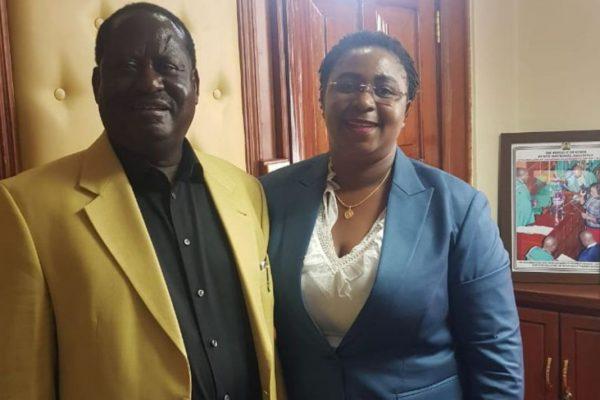 Raila Odinga with Aisha Jumwa