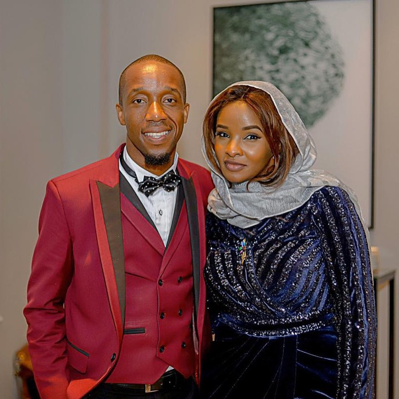 Rashid Abdalla with Lulu Hassan