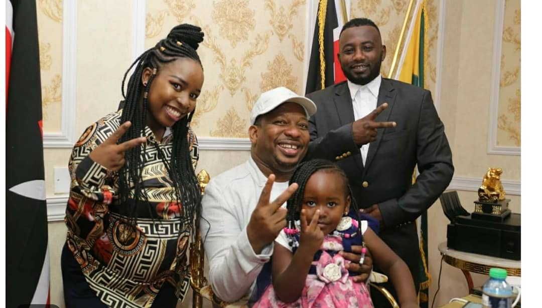 Saumu Mbuvi with Mike Sonko and her baby daddy