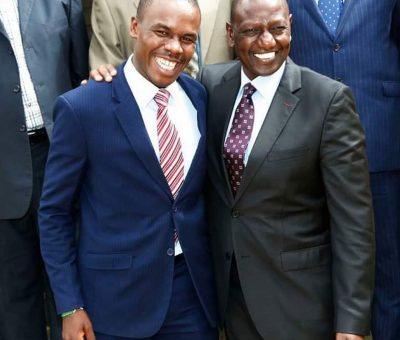 Silvanus Osoro with William Ruto
