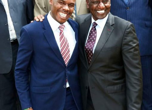 Silvanus Osoro with William Ruto