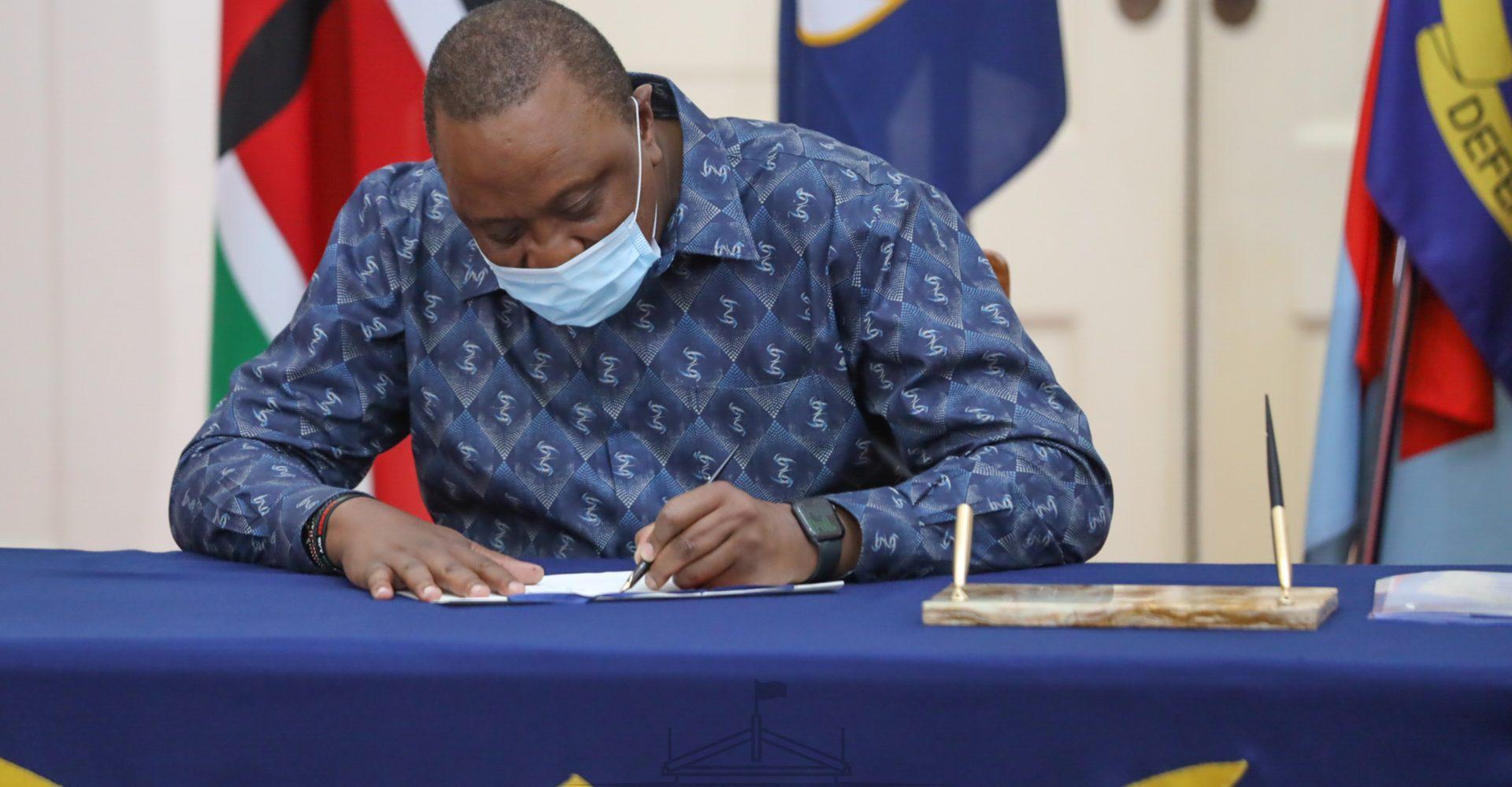 Uhuru Kenyatta at State House