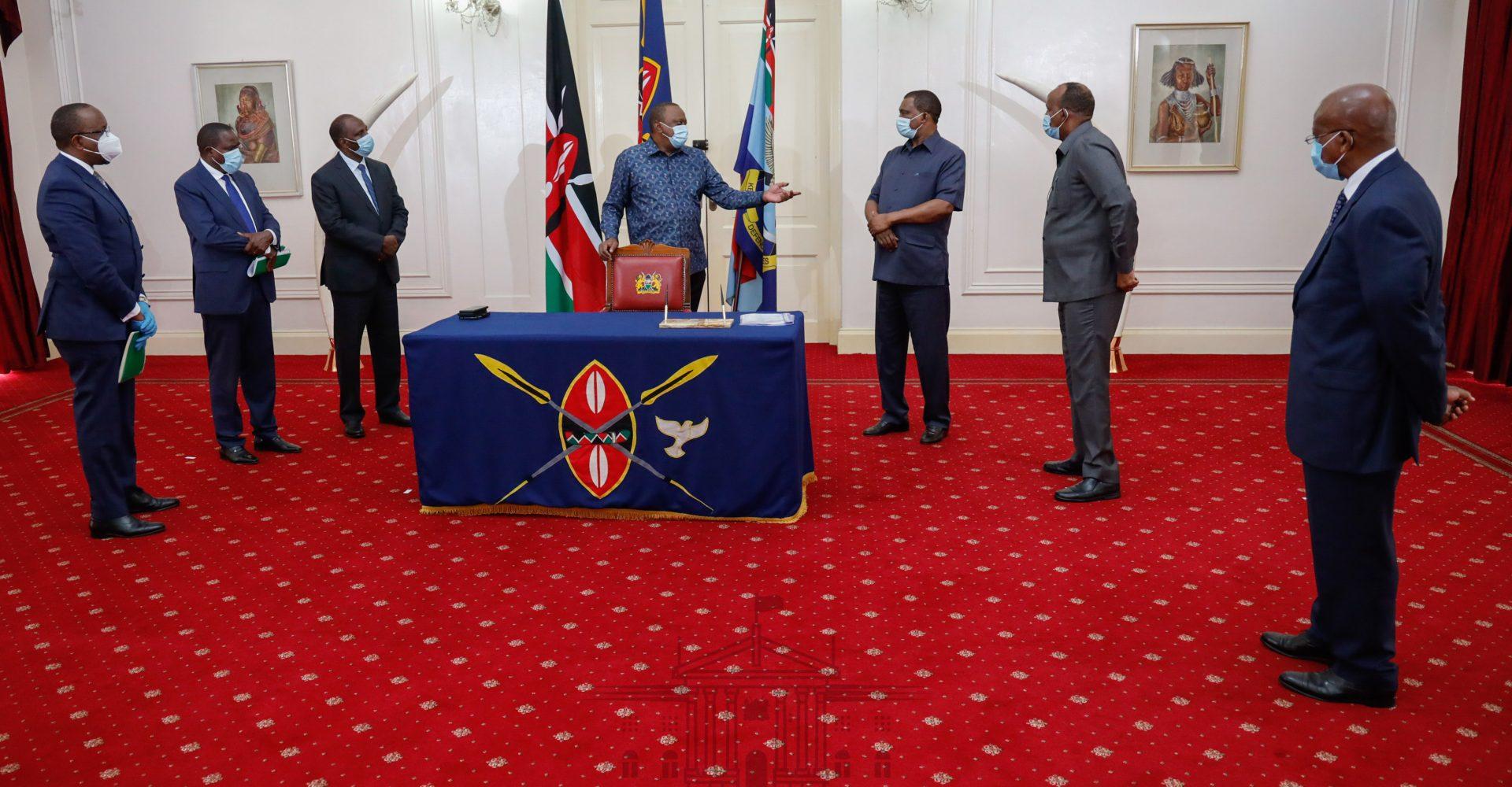 Aden Duale meets Uhuru Kenyatta just before National Assembly changes