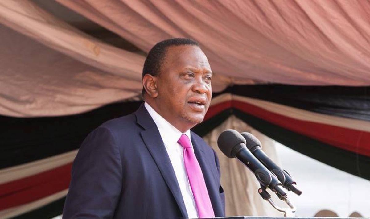 Uhuru Kenyatta speaking