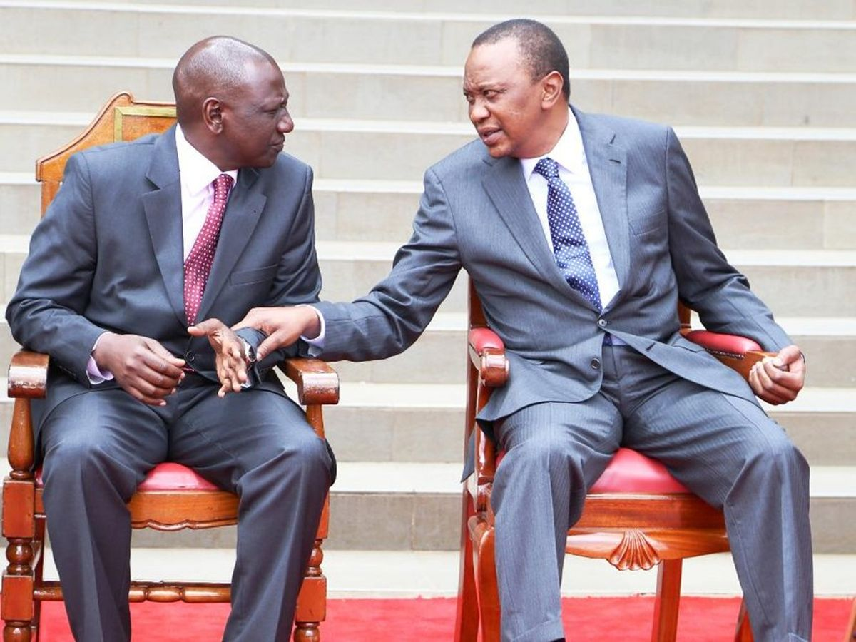 William Ruto with Uhuru Kenyatta in the past