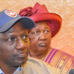 William Ruto with his mother behind