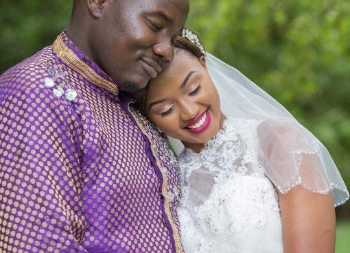 Willis Raburu with his wife, Marya on their wedding day