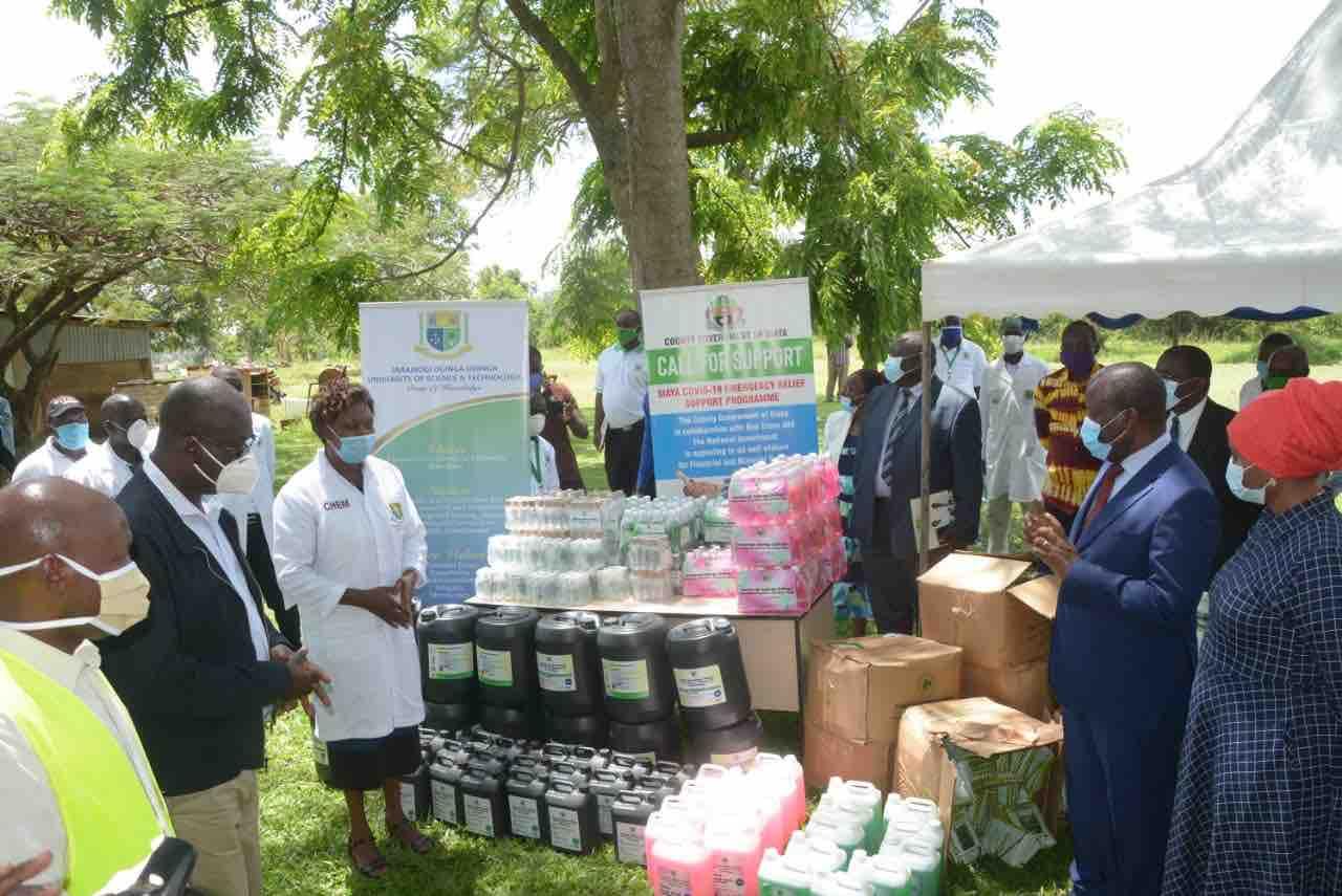 Jaramogi Oginga Odinga University Donates Kshs. 200k and  Covid-19 Assorted Protective Equipment