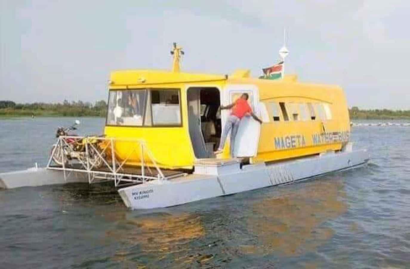 Water boat aka ferry capsizes in Lake Victoria