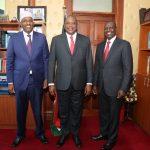 Aden Duale with Uhuru and Ruto