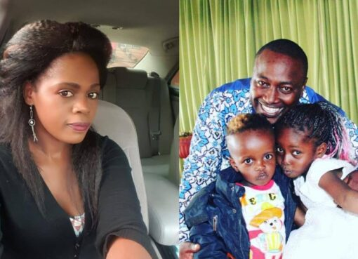 Betty Bayo with Victor Kanyari and their kids