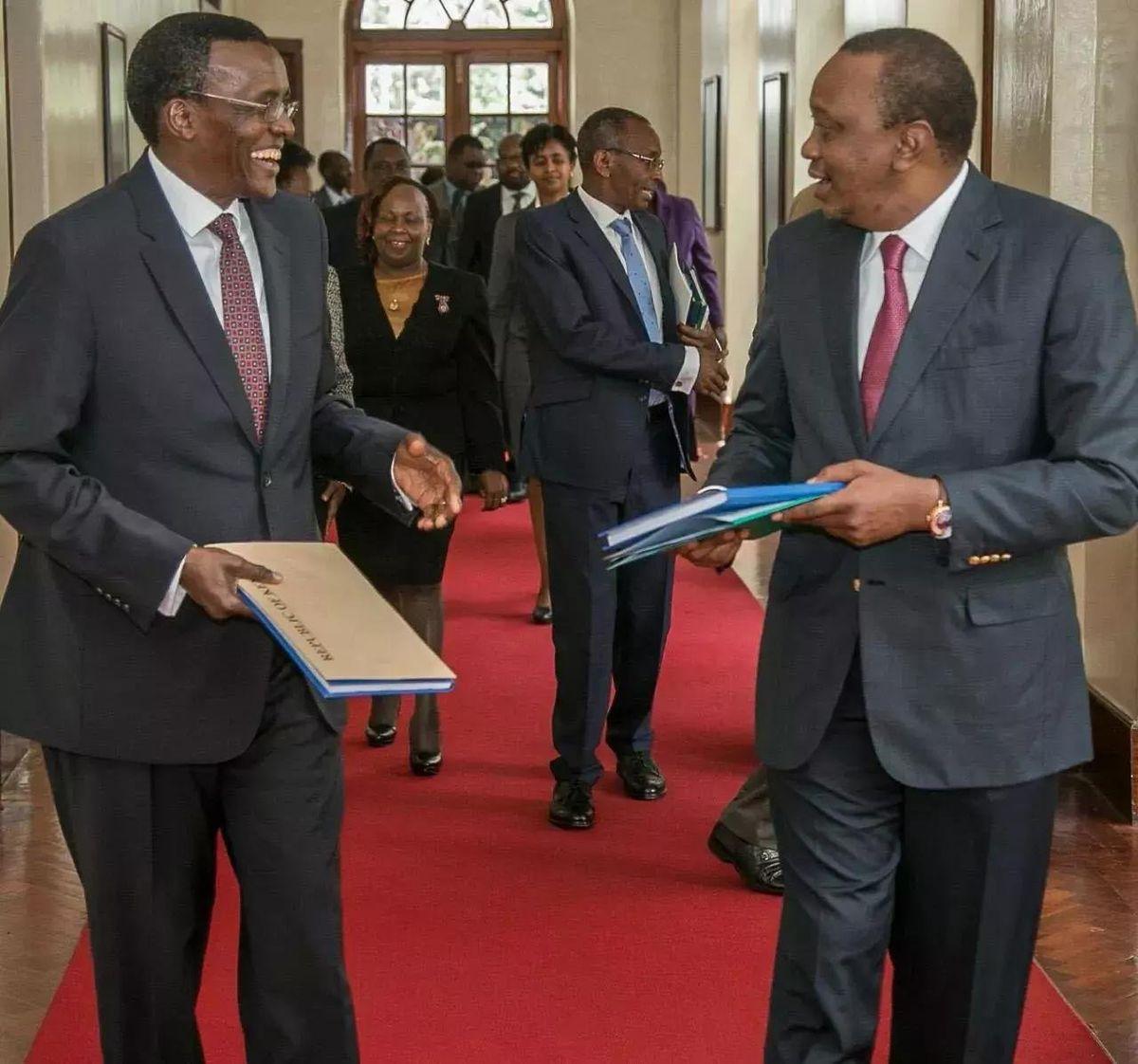 David Maraga with Uhuru Kenyatta in the past
