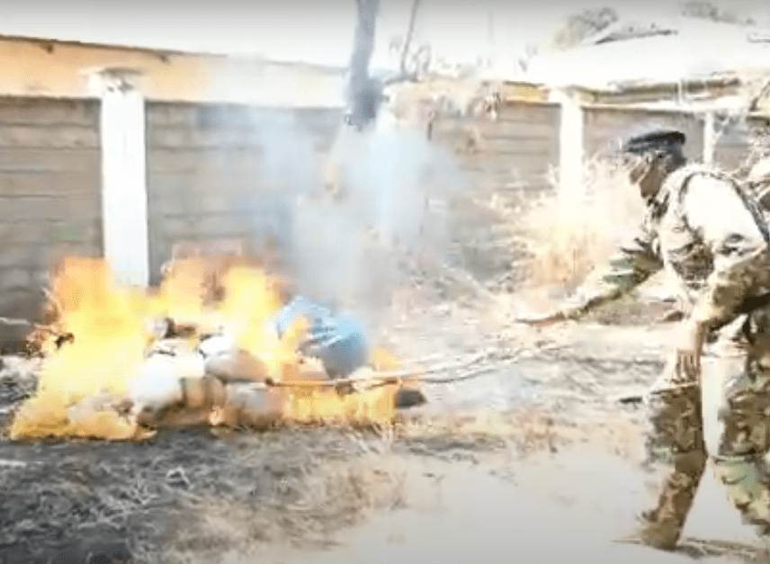 Bhang Worth Ksh.4.5 Million Burnt In Isiolo