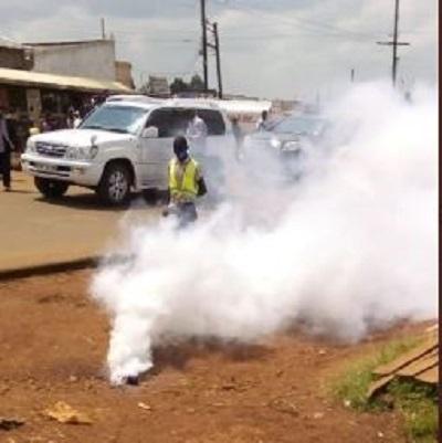 Moses Wetangula convoy teargassed