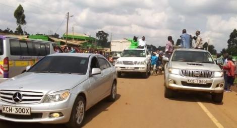 Moses Wetangula convoy