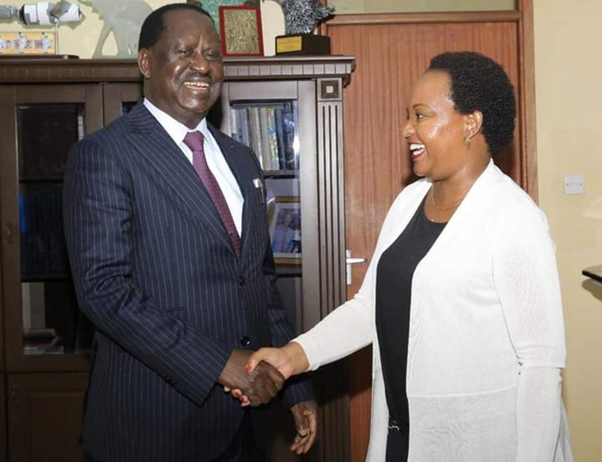 Raila Odinga with Anne Waiguru