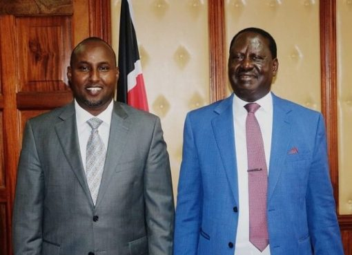 Raila Odinga with Junet Mohamed