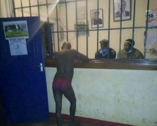 Man in Embakasi reveals why he turned up naked at a police station