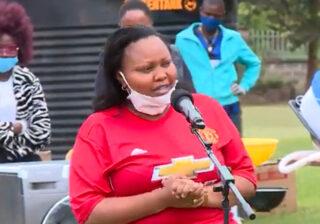 Shock As Senator Millicent Omanga Spotted At DP Ruto's Karen Residence