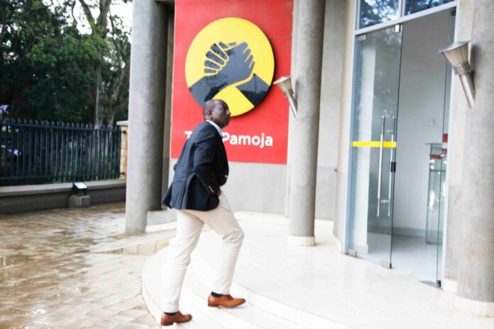 William Ruto at The Jubilee Party HQ