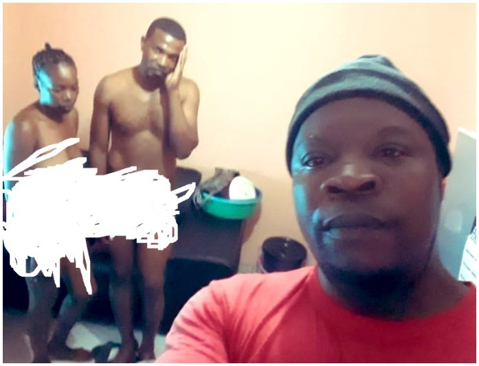 Man takes selfie with cheating wife and friend